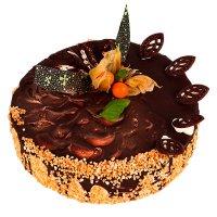 Čokoládový kulatý dort