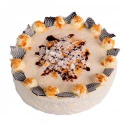 Kokosovo mandlový dort