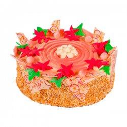 Růžový dort