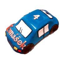 Auto – marcipánové modré