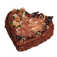 Čokoládové srdce tmavé